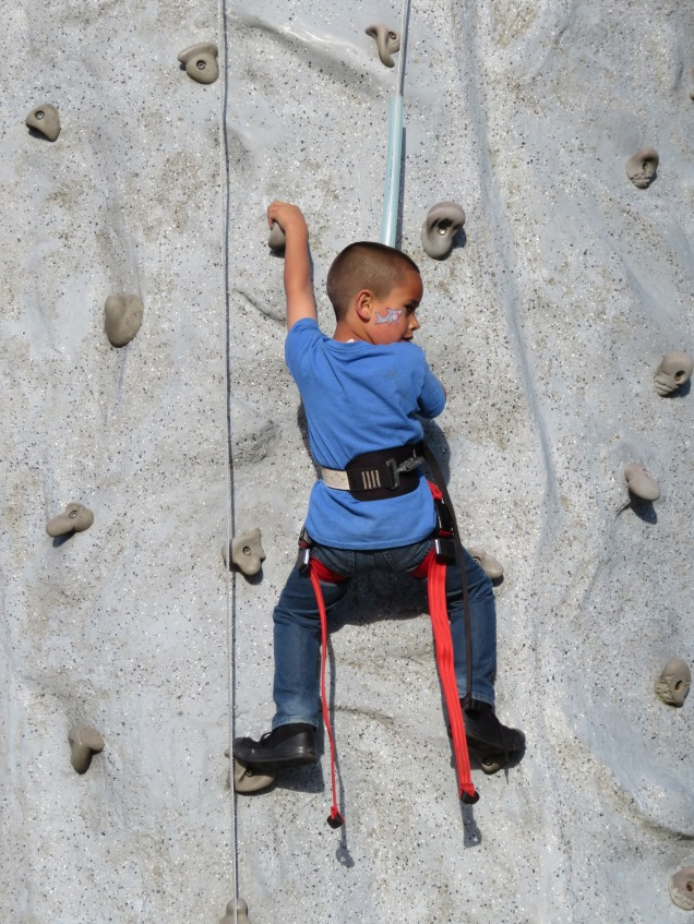 Rock wall climbing? No problems!